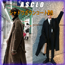 ASCLO Unisex Wool Street Style Plain Chester Coats