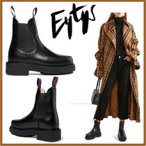 Eytys Open Toe Rubber Sole Street Style Plain Leather