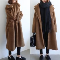 Casual Style Street Style Plain Long Midi Oversized