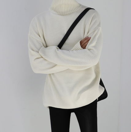 ASCLO Knits & Sweaters Unisex Long Sleeves Plain Knits & Sweaters 13
