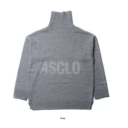 ASCLO Knits & Sweaters Unisex Long Sleeves Plain Knits & Sweaters 16
