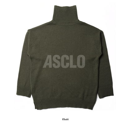 ASCLO Knits & Sweaters Unisex Long Sleeves Plain Knits & Sweaters 17