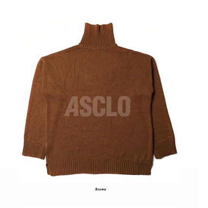 ASCLO Knits & Sweaters Unisex Long Sleeves Plain Knits & Sweaters 18