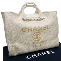 CHANEL DEAUVILLE Casual Style Totes