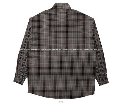 ASCLO Shirts Pullovers Gingham Glen Patterns Unisex Street Style 15