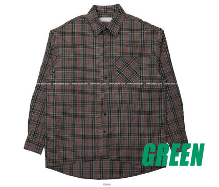 ASCLO Shirts Pullovers Gingham Glen Patterns Unisex Street Style 16