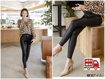 Casual Style Plain Leather Long Bottoms