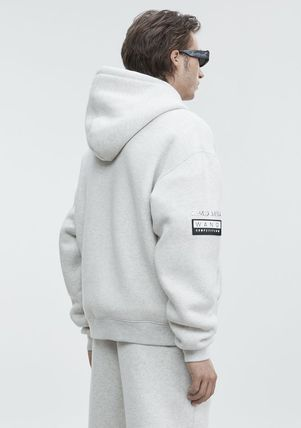 Alexander Wang Hoodies Street Style Long Sleeves Plain Cotton Oversized Hoodies 3