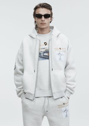 Alexander Wang Hoodies Street Style Long Sleeves Plain Cotton Oversized Hoodies 4