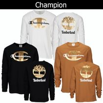 CHAMPION Street Style Long Sleeves Cotton Long Sleeve T-Shirts