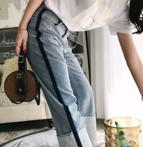 Casual Style Blended Fabrics Long Jeans