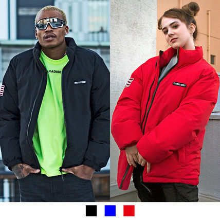 Short Unisex Street Style Plain Down Jackets
