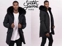 Sixth June Faux Fur Street Style Collaboration Plain Long Parkas