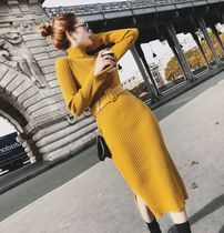 Casual Style Tight Blended Fabrics Long Sleeves Plain Long