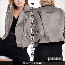 River Island Short Faux Fur Plain Biker Jackets