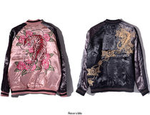 Flower Patterns Unisex Street Style Souvenir Jackets