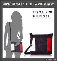 Tommy Hilfiger Casual Style Unisex Canvas Street Style Plain Shoulder Bags