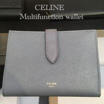 CELINE Plain Leather Folding Wallets
