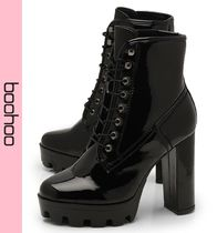 boohoo Platform Casual Style Faux Fur Ankle & Booties Boots