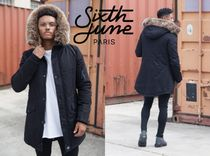 Sixth June Short Faux Fur Street Style Collaboration Plain Parkas