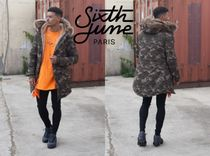 Sixth June Short Camouflage Faux Fur Street Style Collaboration Parkas