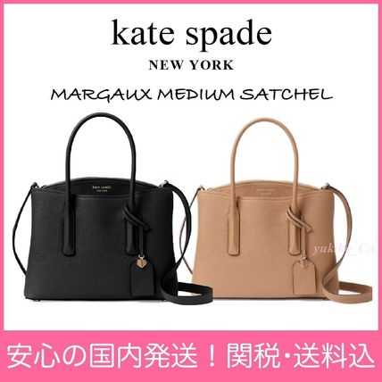 Plain Leather Elegant Style Handbags