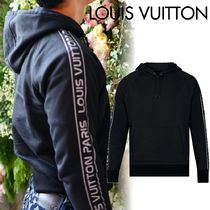 Louis Vuitton Unisex Long Sleeves Plain Cotton Logos on the Sleeves Tops