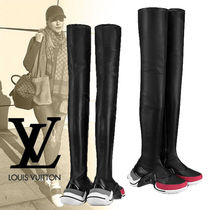 Louis Vuitton Casual Style Plain Leather Boots Boots