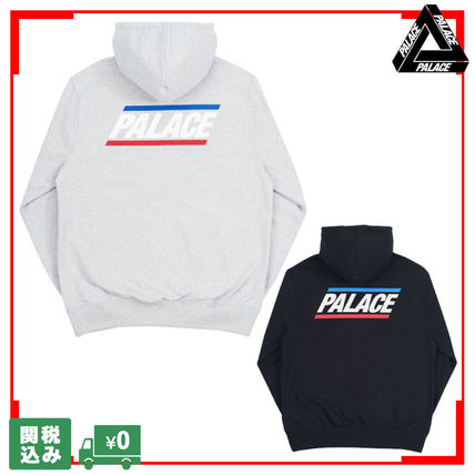 Palace Skateboards Hoodies Unisex Street Style Long Sleeves Plain Oversized Hoodies