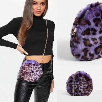 Leopard Patterns Casual Style Faux Fur Special Edition