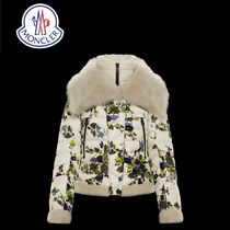 MONCLER Short Flower Patterns Oversized Down Jackets