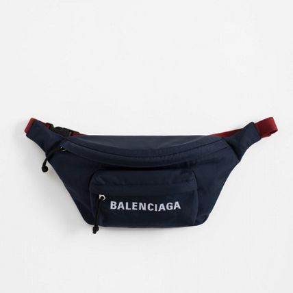 BALENCIAGA Hip Packs Unisex Nylon Plain Hip Packs 2