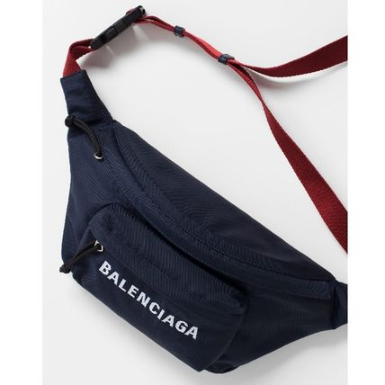 BALENCIAGA Hip Packs Unisex Nylon Plain Hip Packs 4