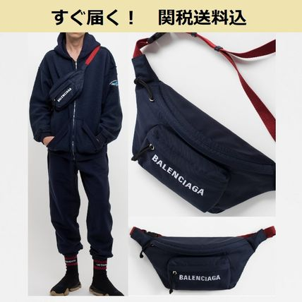 BALENCIAGA Hip Packs Unisex Nylon Plain Hip Packs