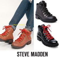 Steve Madden Round Toe Rubber Sole Casual Style Street Style Plain