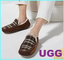 UGG Australia ASCOT Other Check Patterns Plain Toe Suede Street Style