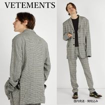 VETEMENTS Glen Patterns Blazers Jackets