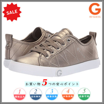 Round Toe Lace-up Casual Style Faux Fur Low-Top Sneakers