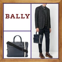 BALLY Stripes A4 2WAY Plain Leather Business & Briefcases