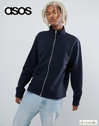 ASOS Sweatshirts Sweat Street Style Long Sleeves Plain Sweatshirts