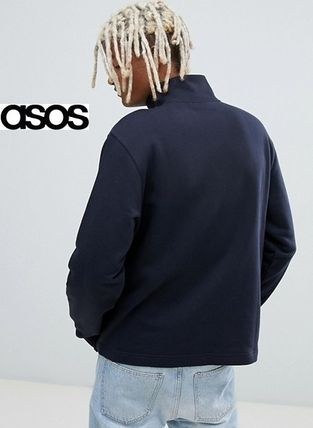 ASOS Sweatshirts Sweat Street Style Long Sleeves Plain Sweatshirts 2