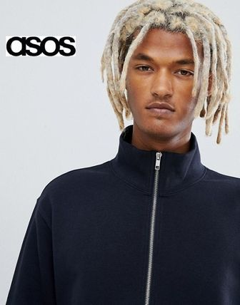 ASOS Sweatshirts Sweat Street Style Long Sleeves Plain Sweatshirts 3