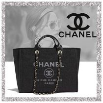 CHANEL Casual Style Nylon A4 2WAY Plain Bags