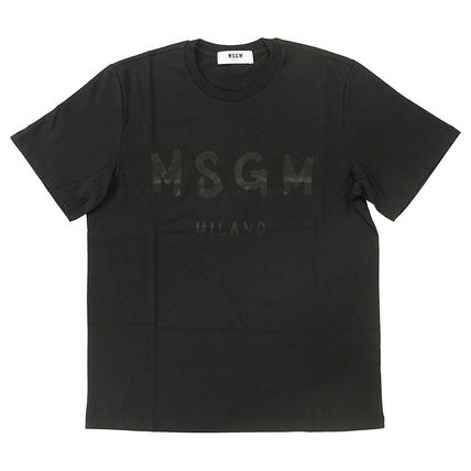 MSGM Crew Neck Crew Neck Plain Cotton Short Sleeves Crew Neck T-Shirts 12