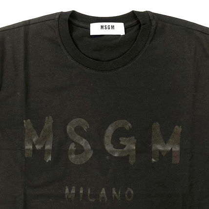 MSGM Crew Neck Crew Neck Plain Cotton Short Sleeves Crew Neck T-Shirts 13
