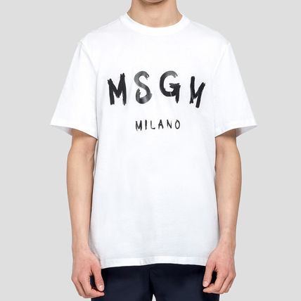 MSGM Crew Neck Crew Neck Plain Cotton Short Sleeves Crew Neck T-Shirts 2