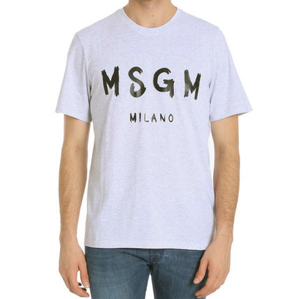 MSGM Crew Neck Crew Neck Plain Cotton Short Sleeves Crew Neck T-Shirts 5