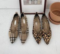 Other Check Patterns Leopard Patterns Suede Elegant Style