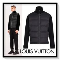 Louis Vuitton Short Blended Fabrics Plain Biker Jackets