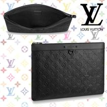 13c55516bf48 Louis Vuitton MONOGRAM Monoglam Blended Fabrics Bag in Bag A4 Plain Leather